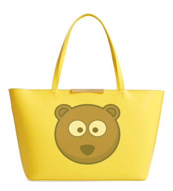 Winter Bear Yellow Tote Bag